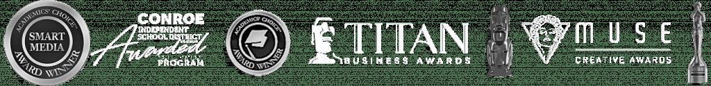 Academic's Choice Smart Media Awards, Texas Independent School District Program Awards, Titan Business Awards, Creative Awards, Recognitions for CreativeOnes Digital Art Academy