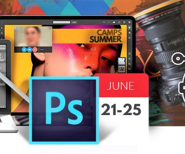 Summer Camps learning Photoshop