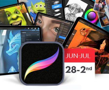 Summer Camps learning Digital Art using Procreate