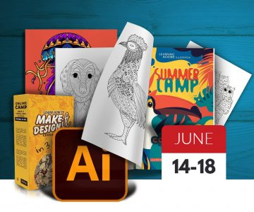 Summer Camp for Teenagers learning Adobe Illustrator